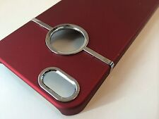 Deluxe RED Hard Case Cover W Chrome for Apple iPhone 5 5S SE + SCREEN Protector