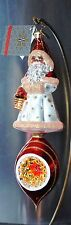 Radko Seasonal Gathering Christmas Glass Ornament Reflector Santa 9""