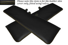 YELLOW STITCHING 2X SUN VISORS LEATHER COVERS ONLY FITS TALBOT MOTORHOME