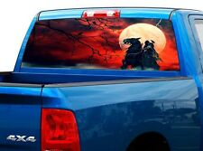 P463 Grim Reaper Rear Window Tint Graphic Decal Wrap Back Truck Tailgate