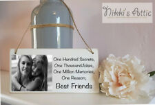 Personalised Plaque, Any Text+Any Photo,Handmade, Gift, Birthday,Friend,BFF