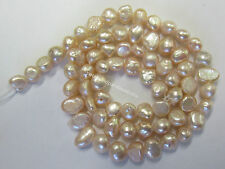 5mm Freshwater Pearl Strand With Approx 67 Irregular Pearls In Apricot Colour