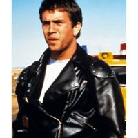 Mad Max Rockatansky Black Real Leather Jacket