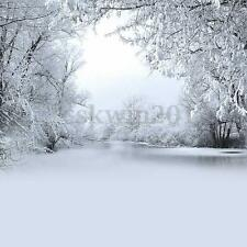 10x10FT Winter Ice Snow Tree Photography Background Studio Backdrop Props New