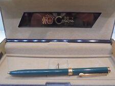 PENNA A SFERA COLIBRI of London VINTAGE-verde placcata oro-Ballpoint pen-Biro