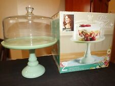 The Pioneer Woman Pistachio Green Cake Stand With Glass Cover MIB