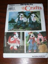 "SIMPLICITY #7864 - CUTE 15"" TALL DALMATION DOG & FOUR STYLE CLOTHING PATTERN  FF"