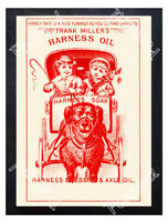 Historic Frank Miller's Harness Oil Advertising Postcard