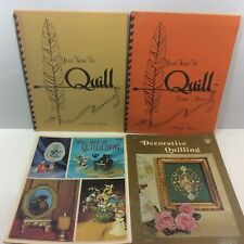Quilling Instruction Booklets Lot of 4 Barbara Maddox The Art + Your Turn + More