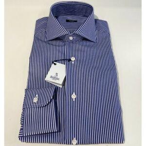 Men's Shirts Barba Napoli Striped Blue I1U13P01664124U P-E 2021