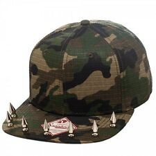 NEW CAMO SNAPBACK HAT Mens or Womens Baseball Cap With Spiked Bill Flatbill COOL