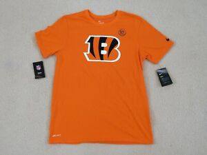 Nike Authentic NFL 'the NATI' BENGALS Dri Fit Cotton Shirt Men L New Sweet^