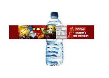 Lego Ninjago Personalized Birthday Water Bottle Label Set of 5 (Printable)