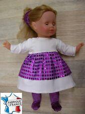 Ens. robe NEUVE pour Miss Corolle 36 cms Ref.écru violet