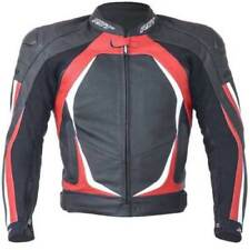 Giacche traspirante rosso in pelle per motociclista