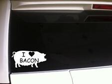 "I Heart Bacon Silhoutte Vinyl Car Decal 6"" E93 Funny Love Pig Humor Sticker Pork"