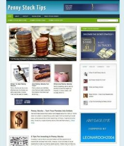PENNY STOCKS TIPS WEBSITE/BLOG WITH AFFILIATE OPTIONS & NEW DOMAIN