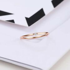 18k gold Ring With 0.01 Ct Real Diamond 46mm