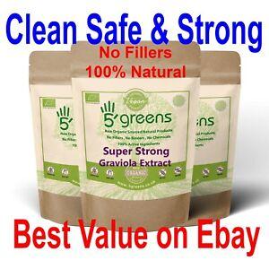 Graviola ( Soursop ) Extract 10:1 ( Equivalent to 4.8 grams Per Cap )  Strong