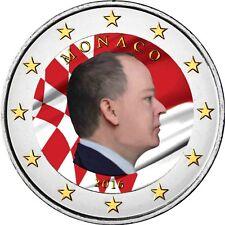 Monaco 2 Euro 2016 Fürst Albert II Grimaldi Gedenkmünze in Farbe