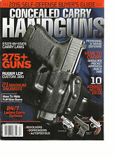 CONCEALED CARRY HANDGUNS , ISSUE, 2016   275 + GUNS  SELF-DEFENSE BUYER'S GUIDE