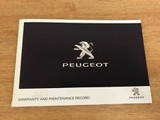 NEW PEUGEOT SERVICE HISTORY AND MAINTENANCE RECORD BOOK GENUINE NEW**