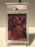 1995 Hoops Number Crunchers Michael Jordan #1 PSA 9 MINT Chicago Bulls HOF 🔥🏀