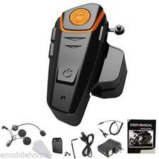 1KM BT-S2 Motorcycle Bluetooth Helmet Headsets Interphone Intercoms FM Radio