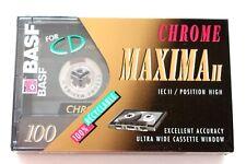 BASF CHROME MAXIMA II 100 HIGH BIAS TYPE II BLANK AUDIO CASSETTE TAPE - 1993