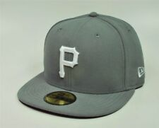 New Era 59Fifty Cap MLB Pittsburgh Pirates Mens Womens Gray Fitted 5950 Hat