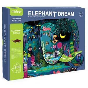 boppi Childrens Kids Huge Elephant Shaped Dream Puzzle Animal 280 Piece Jigsaw