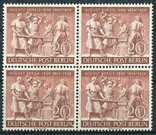 Berlin 125 Viererblock VB August Borsig 1954 ungefaltet