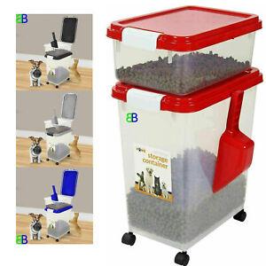 50L 3pc Prime Paws Airtight Pet Dog Cat Food Storage Container Measuring Scoop
