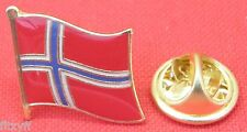 Norway Norwegian Country Flag Lapel Hat Cap Tie Pin Badge Kongeriket Norge