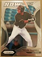 2020 PRIZM TAYLOR TRAMMELL SAN DIEGO PADRES NOW ON DECK BASE ROOKIE