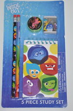 Disney inside out 5 piece study set 2 pencils eraser memo pad school supply