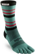 Injinji Run Men's 179516 Lightweight Crew Toesocks Evergreen Size M