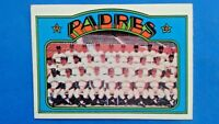 1972 Topps Baseball Card San Diego Padres Team Picture #262