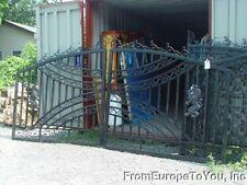 14. FT. VICTORIAN STYLE CAST IRON  DRIVEWAY GATES - GATE#22