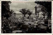NIENDORF Ostsee alte Postkarte ~1940 Immenhof Biergarten Außen-Terrasse s/w AK