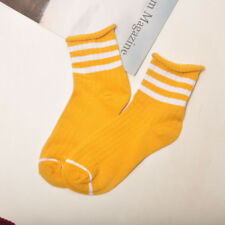 Edge Candy Color Colllege Style Socks Women Cotton Socks Funny Striped Japan