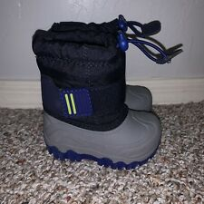 EUC Cat And Jack Navy Barrett Boys Baby Toddler Boots Size 4