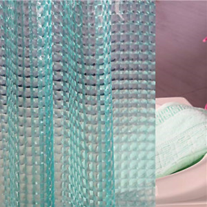 Adwaita Teal Waterproof PEVA Plastic Shower Curtain Liner Heavy Duty No Chemical