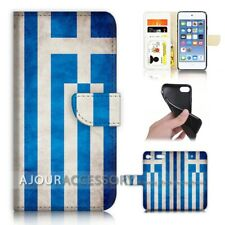 ( For iPod Touch 6 ) Wallet Flip Case Cover AJ40005 Greece Flag