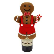 Gingerbread Man Christmas Cookie Holiday Wine Bottle Bag Cover Home Decor Gift