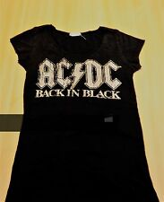 AC/DC - Back in Black - Girls T Shirt ( Size : LARGE - Lady Fit ) .