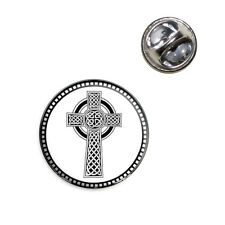 Celtic Cross High Cross Lapel Hat Tie Pin Tack