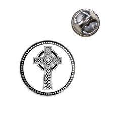 Celtic Cross High Cross Lapel Hat Tie Pin Tack