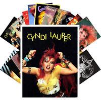 Postcards Pack [24 cards] Cindy Lauper Pop Music Posters Vintage CC1226
