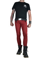 TRIPP RED BLACK STRIPE EXPLOITED SKINNY JEANS ROCKER UNISEX FIT PUNK ROCK  PANTS d0f05b1d6